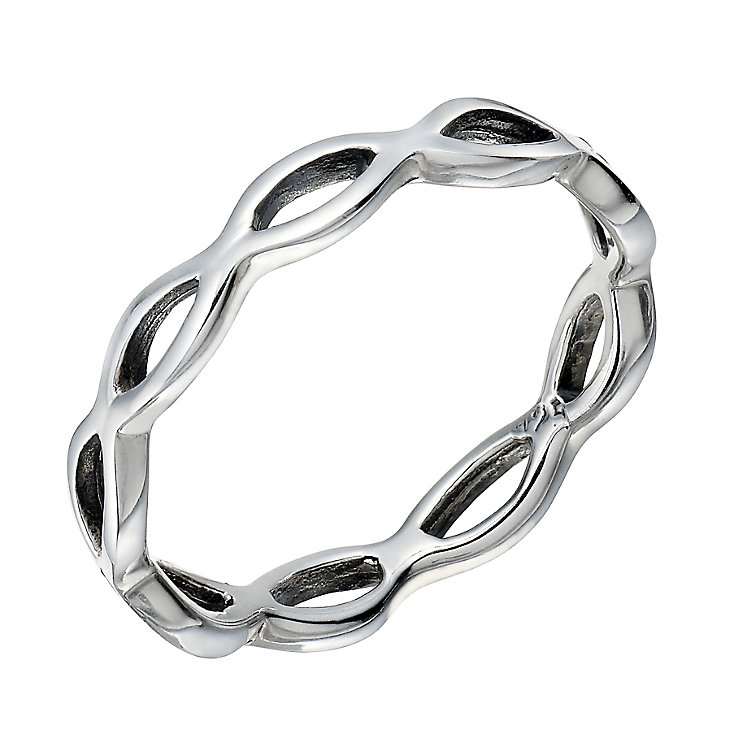 Sterling Silver Open Wave Ring - Product number 2306565