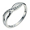 Sterling Silver & Cubic Zirconia Crossover Ring - Product number 2306891