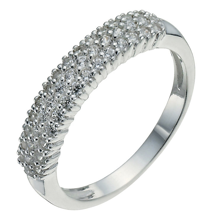 Sterling Silver & Cubic Zirconia Band Ring - Product number 2306964