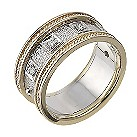 9ct two colour gold diamond ring - Product number 2307294