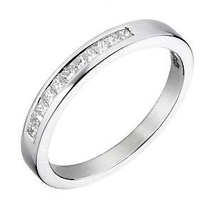 Platinum 1/5 carat diamond wedding ring - Product number 2307413