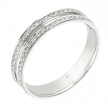 18ct white gold 0.25ct diamond wedding ring - Product number 2307553