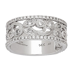 Neil Lane Designs 14ct white gold 0.66ct diamond band - Product number 2307693