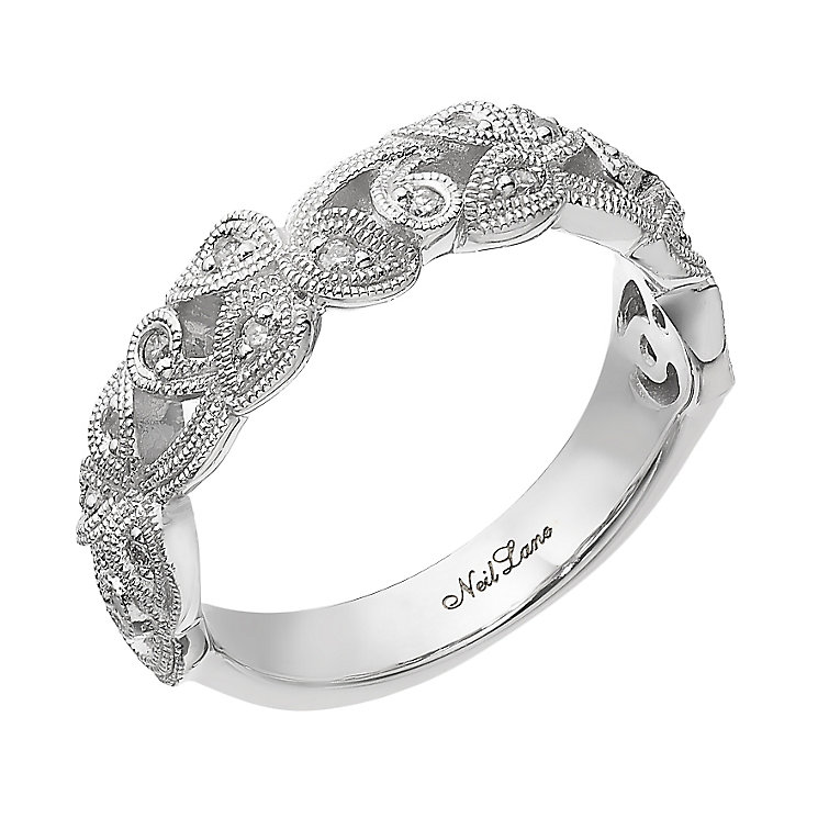 Neil Lane Designs silver 0.10ct diamond vine ring - Product number 2308134