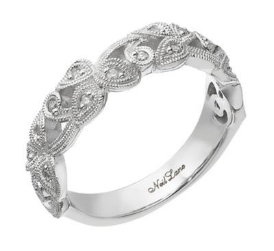 Neil Lane Designs silver 011ct diamond vine band Ernest Jones