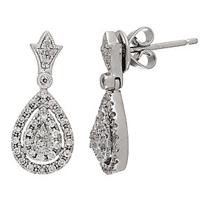 Neil Lane Designs 14ct white gold 0.30ct diamond earrings - Product number 2308371