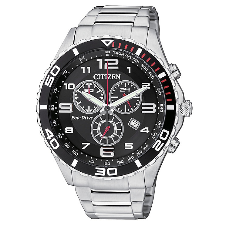 citizen eco drive men s stainless steel chronograph watch h samuel citizen eco drive men s stainless steel chronograph watch product number 2308479