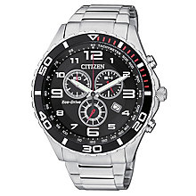 Citizen Eco Drive Men's Stainless Steel Chronograph Watch - Product number 2308479