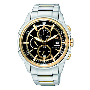Citizen Eco Drive Men's Two Tone Chronograph Watch - Product number 2308487