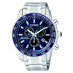 Citizen Eco Drive Men's Blue Dial Chronograph Watch - Product number 2308533