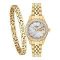 Citizen Eco Drive Ladies' Crystal Watch & Bracelet Set - Product number 2308851