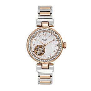 Rotary Paris ladies' two colour stone set bracelet watch - Product number 2308878