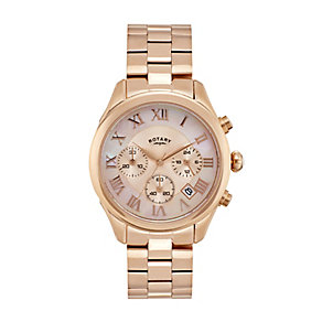 Rotary Paris ladies' rose gold-plated bracelet watch - Product number 2308924