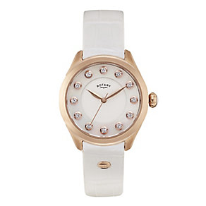 Rotary Paris ladies' white leather strap watch - Product number 2309068