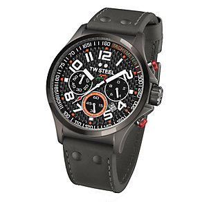 TW Steel men's black leather strap watch - Product number 2309718