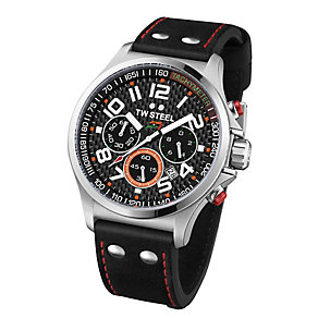 TW Steel men's black leather strap watch - Product number 2309734
