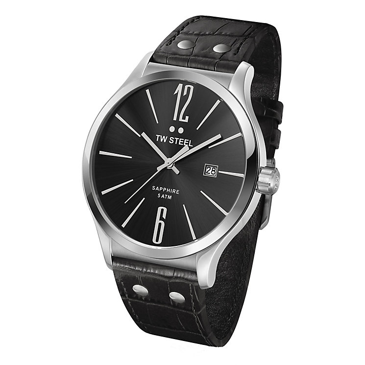 TW Steel men's black leather strap watch - Product number 2309920