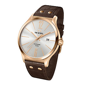 TW Steel men's brown leather strap watch - Product number 2310007