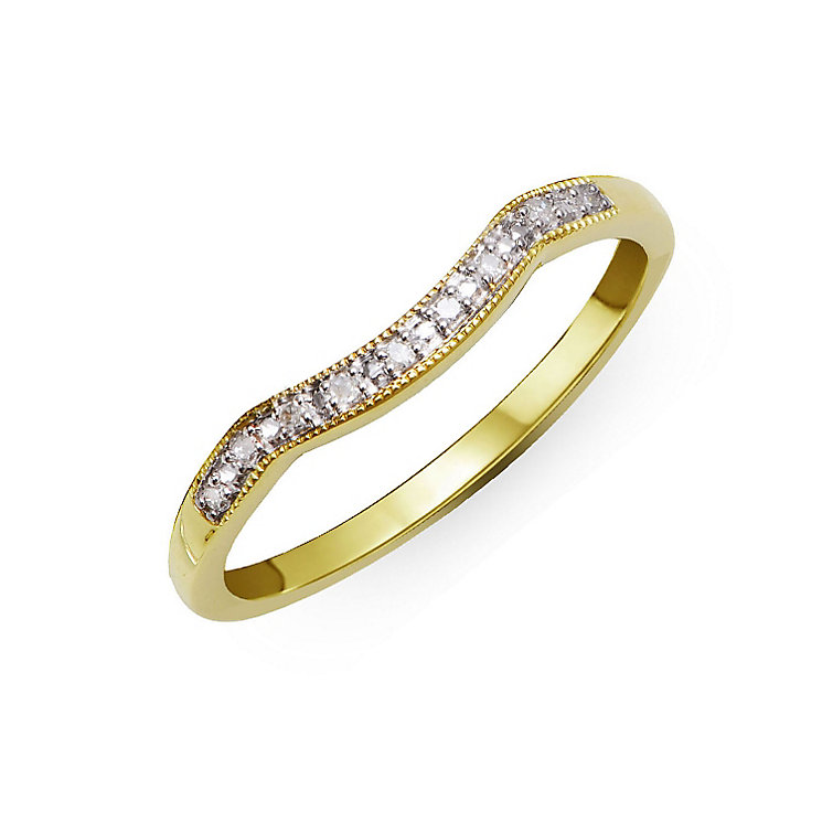 Perfect Fit 9ct Yellow Gold & Diamond Eternity Ring - Product number 2310759