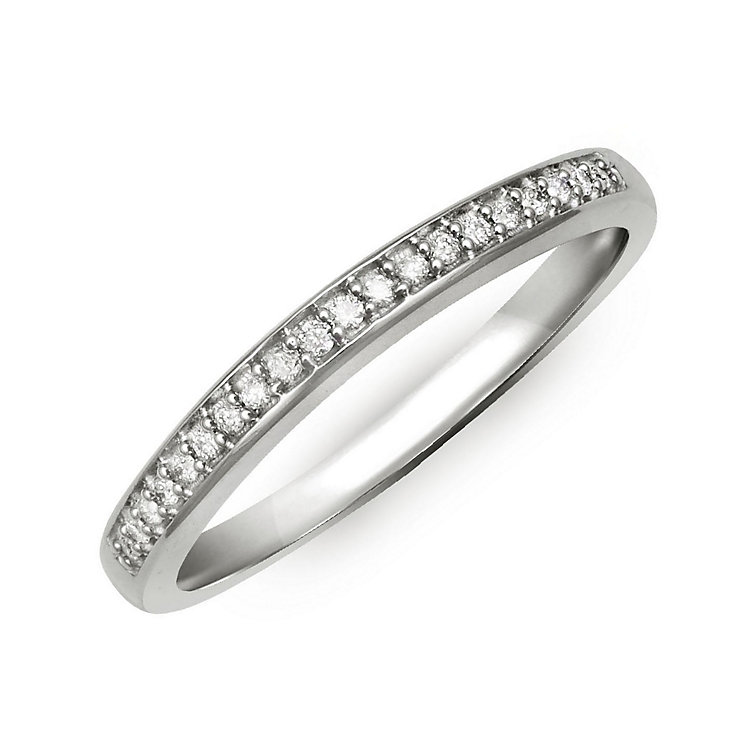 Perfect Fit Palladium & Diamond Eternity Ring - Product number 2311283