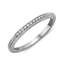 9ct White Gold & Diamond Perfect Fit Eternity Ring - Product number 2311410