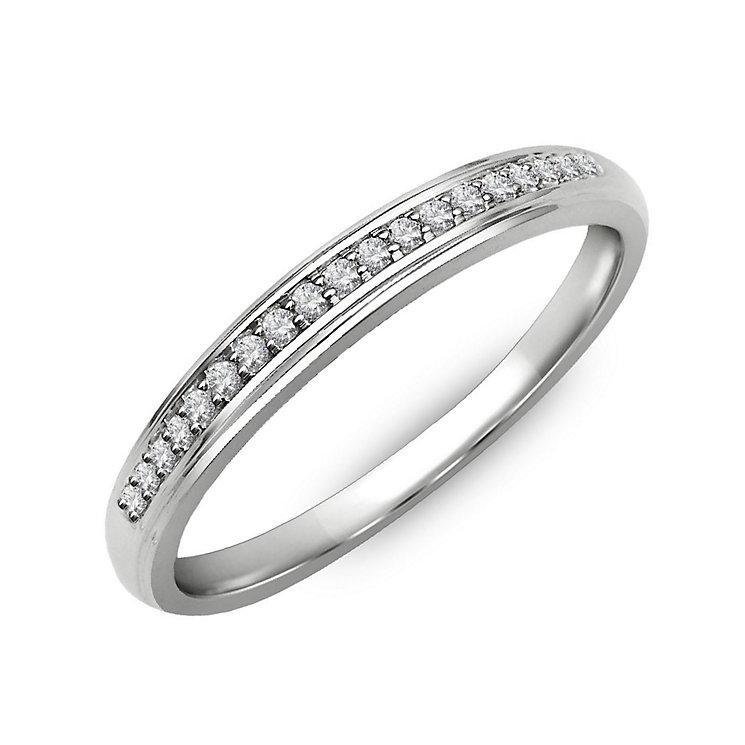 Perfect Fit Palladium & Diamond Eternity Ring - Product number 2311550