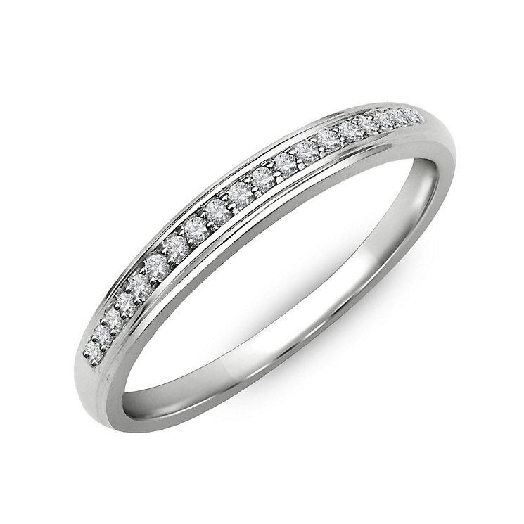 Perfect Fit Palladium & Diamond Eternity Ring - Product number 2311550