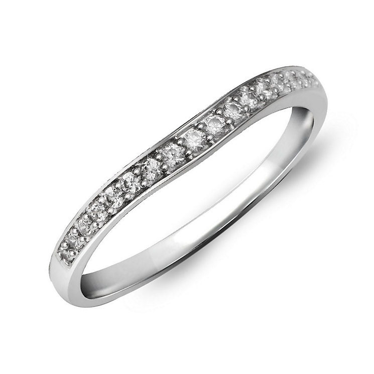 Perfect Fit Palladium & Diamond Eternity Ring - Product number 2311836