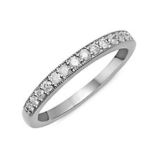 9ct White Gold & Diamond Perfect Fit Eternity Ring - Product number 2312093