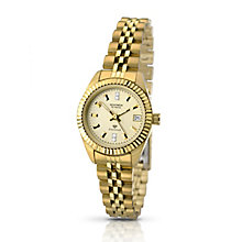 Sekonda Editions Ladies' Yellow Gold Plate Diamond Set Watch - Product number 2313375