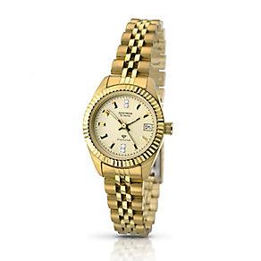 Sekonda Editions Ladies' Yellow Gold Plate Diamond Set Watch - Product number 2313375