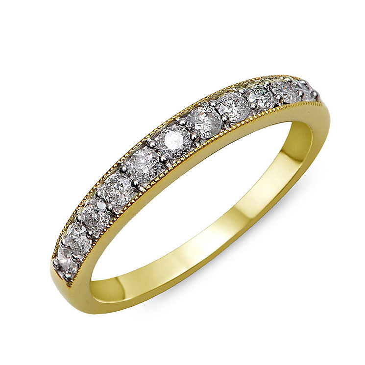 Perfect Fit 9ct Yellow Gold & Diamond Eternity Ring - Product number 2313936