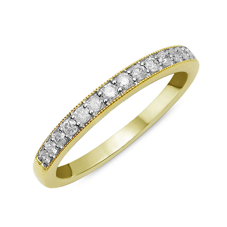 Perfect Fit 9ct Yellow Gold & Diamond Eternity Ring - Product number 2314193