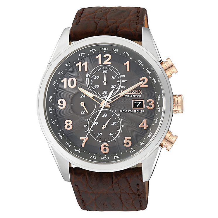 Citizen Eco-Drive Exclusive Men's Leather Strap Watch - Product number 2315246