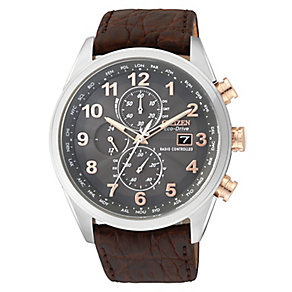 Citizen Exclusive men's black leather strap watch - Product number 2315246