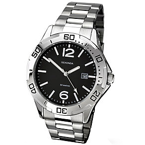 Sekonda Men's Stainless Steel Black Dial Watch - Product number 2316684