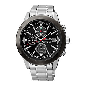 Seiko Men's Stainless Steel Chronograph Bracelet Watch - Product number 2316692