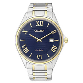 Citizen Eco Drive Men's Two Tone Blue Dial Watch - Product number 2316706