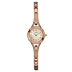 Guess Ladies' Rose Gold Tone Crystal Angelic Watch - Product number 2316722