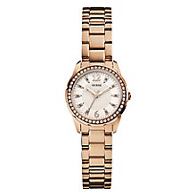 Guess Ladies' Rose Gold Tone Crystal Desire Watch - Product number 2316730