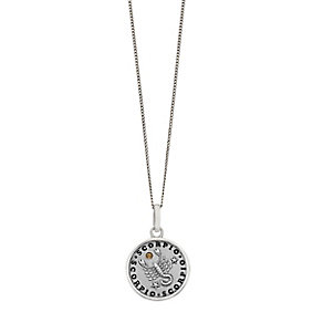 Sterling Silver & Swarovski Elements Zodiac Scorpio Pendant - Product number 2316986