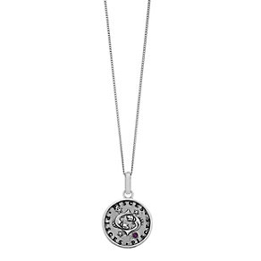 Sterling Silver & Swarovski Elements Zodiac Pisces Pendant - Product number 2317141