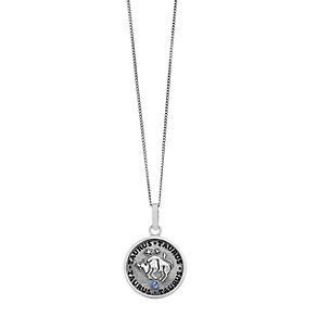 Sterling Silver & Swarovski Elements Zodiac Taurus Pendant - Product number 2317176