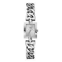Guess Ladies' Silver Tone Mini Mod Chain Watch - Product number 2317206