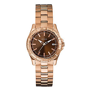 Guess Ladies' Rose Gold Tone Mini Plugged In Watch - Product number 2317265