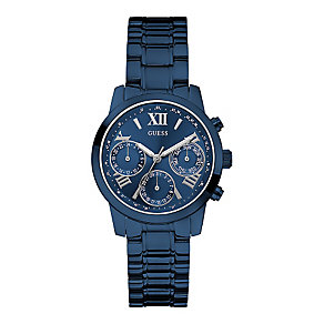 Guess Ladies' Navy & Grey Mini Sunrise Watch - Product number 2317273