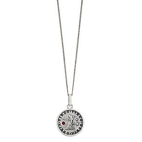 Sterling Silver & Swarovski Elements Zodiac Virgo Pendant - Product number 2317354