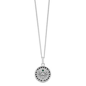Sterling Silver & Swarovski Elements Zodiac Cancer Pendant - Product number 2317419