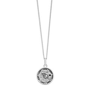Sterling Silver & Swarovski Elements Zodiac Leo Pendant - Product number 2317427