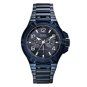 Guess Men's Blue Rigor Watch - Product number 2317508